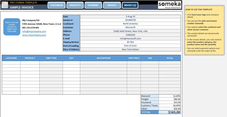 Proforma Invoice Template Eloquens