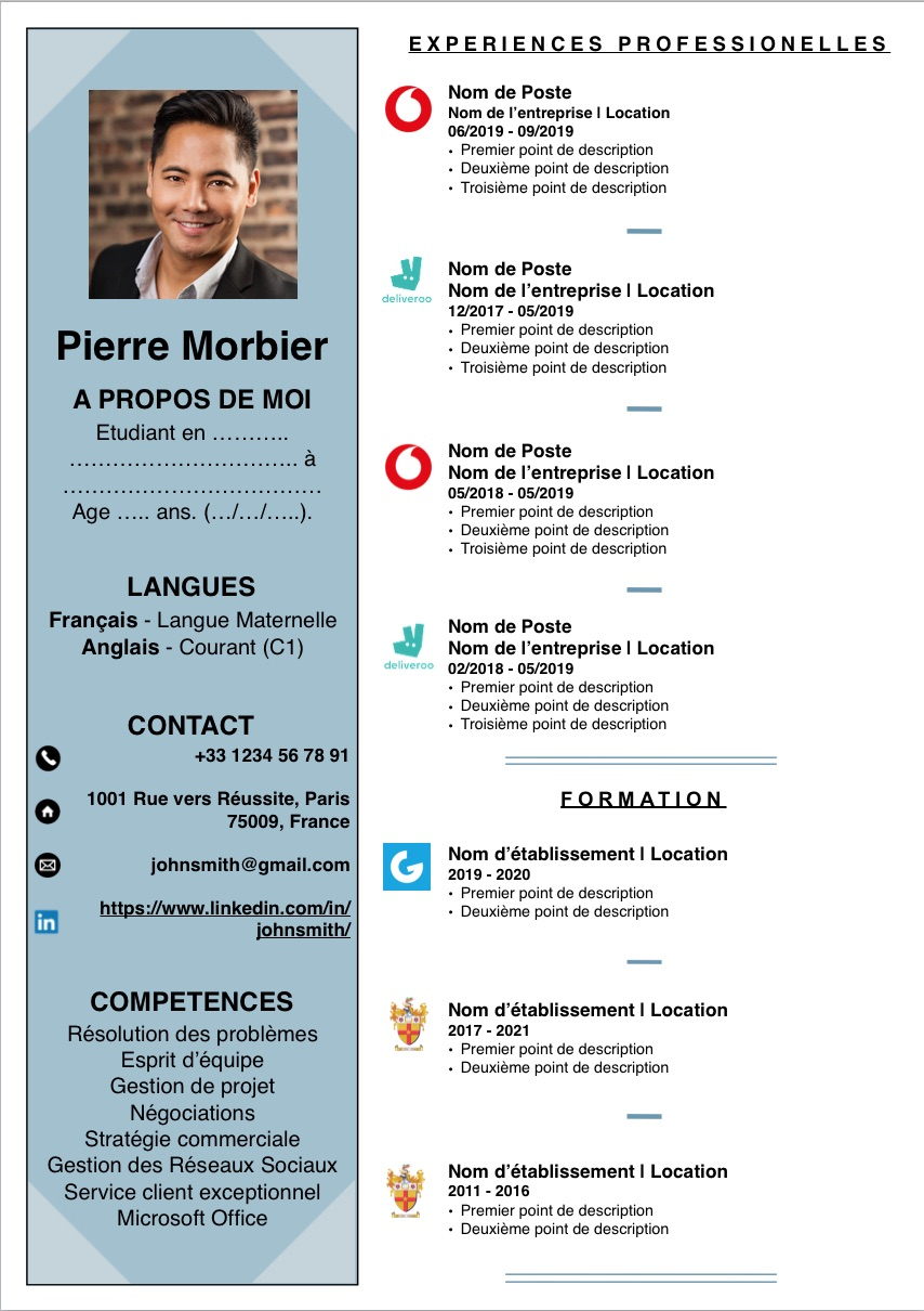 Strong French Cv And Cover Letter Templates For Word And Pages Eloquens